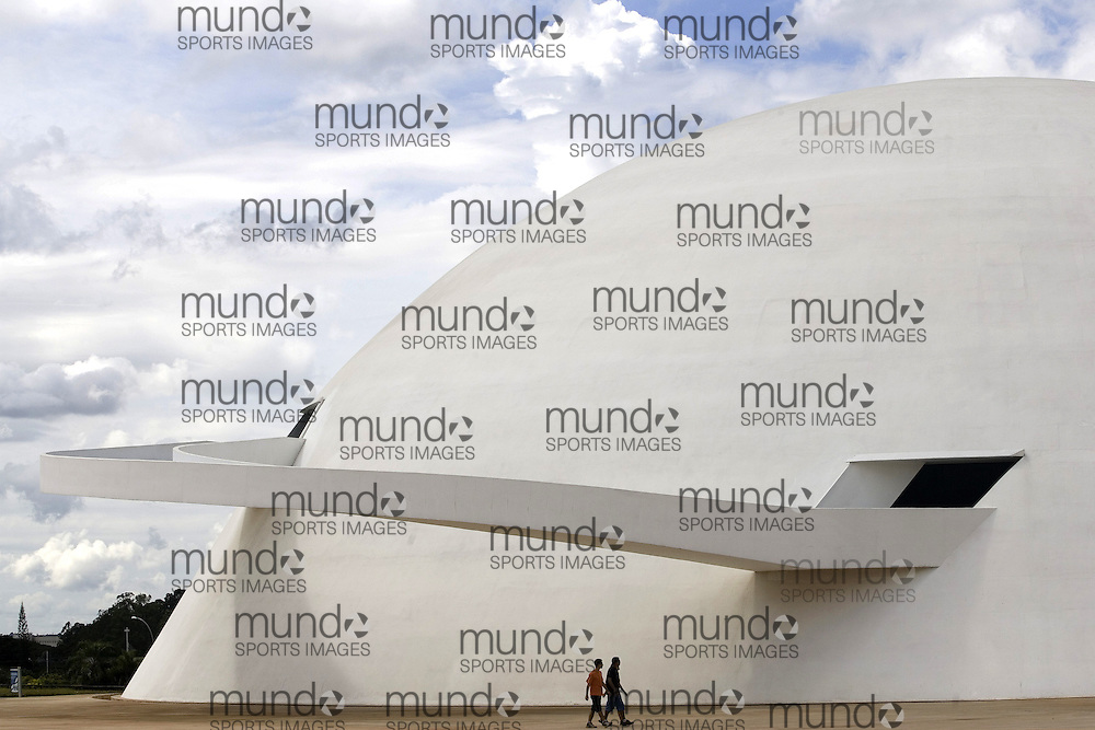 Detail of the National Museum in Brasília. The building was designed by Oscar Neimeyer and is one of his last works.