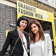 Biljana Roberts is a GFW organise and her teams International Fashion Award Show - Fashion Show showcases at Graduate Fashion Week 2019 - Final Day, on 5 June 2019, Old Truman Brewery, London, UK.