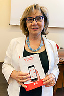 ROME, ITALY - JUNE 26: Elisa Manna, Head of the Caritas Study Centre of Rome,  during the press conference to present a survey conducted by Caritas of Rome on a sample of 1,600 young people regarding the knowledge and consumption of gambling on June 26, 2018 in Rome, Italy.