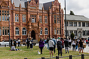Protesters take part in the very peaceful and social distanced Black Lives Matter Protest in Merthyr Tydfil, Wales on 7 June 2020.