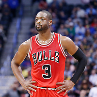 22 November 2016: Chicago Bulls guard Dwyane Wade (3) rests during the Denver Nuggets 110-107 victory over the Chicago Bulls, at the Pepsi Center, Denver, Colorado, USA.