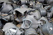 gas masks at a flee market