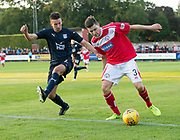 Brechin's Sean Burns and Dundee&rsquo;s Cammy Kerr - Brechin City v Dundee pre-season friendly at Glebe Park, Brechin, <br /> <br /> <br />  - &copy; David Young - www.davidyoungphoto.co.uk - email: davidyoungphoto@gmail.com