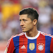 Robert Lewandowski, FC Bayern Munich, during the FC Bayern Munich vs Chivas Guadalajara, Audi Football Summit match at Red Bull Arena, New Jersey, USA. 31st July 2014. Photo Tim Clayton