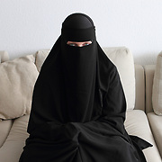 Arhus, Denmark, April 15, 2010. Sumayyah, 31 years old, is a Danish woman converted to Islam.