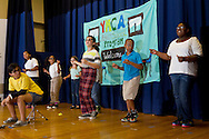 "Middletown, New York -  Children from the Middletown YMCA's Camp Funshine perform in ""The Show"", a musical production, on Aug. 7, 2014."
