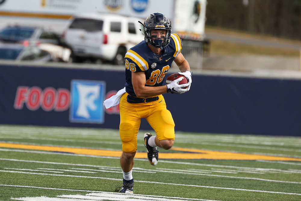 October 7, 2017 - Johnson City, Tennessee - William B. Greene Jr. Stadium: ETSU wide receiver Kobe Kelley (86)<br /> <br /> Image Credit: Dakota Hamilton/ETSU