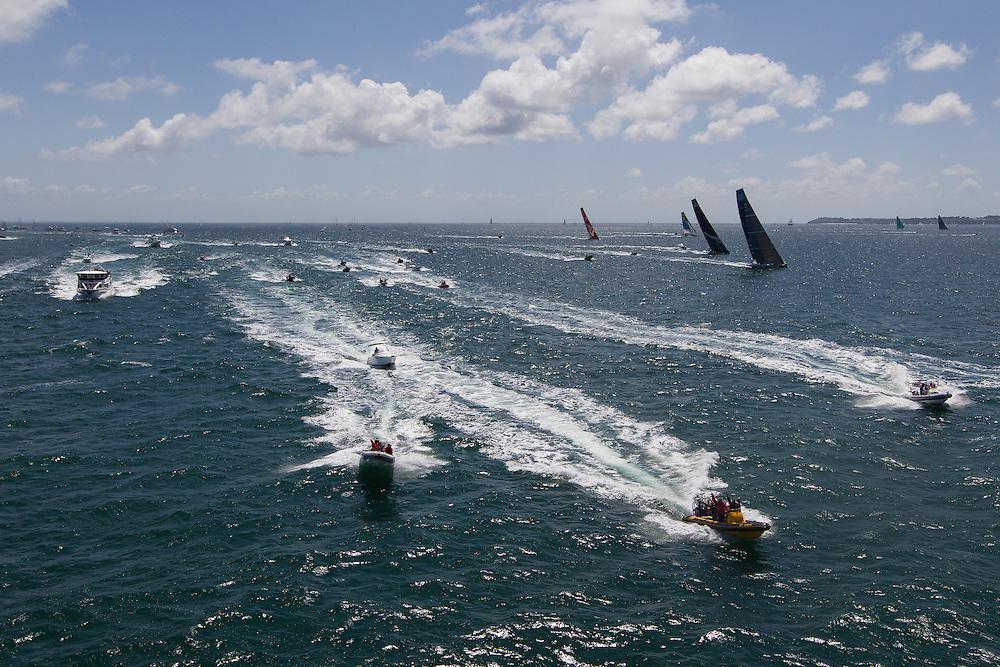 FRANCE, Lorient. 1st July 2012. Volvo Ocean Race, Start Leg 9 Lorient-Galway.