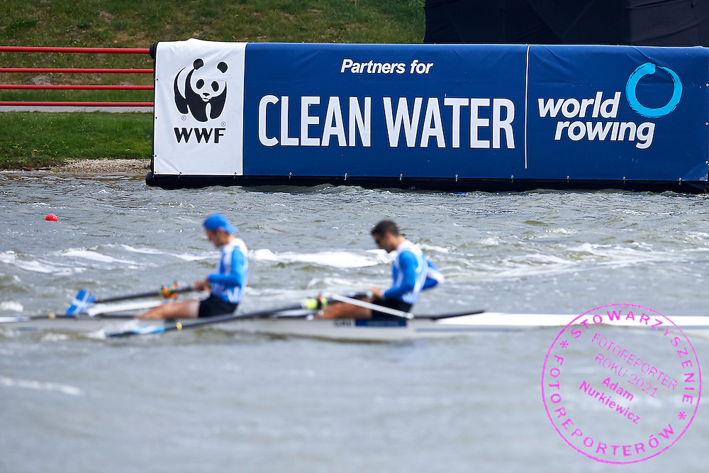 WWF Clean Water during second day the 2015 European Rowing Championships on Malta Lake on May 30, 2015 in Poznan, Poland<br /> Poland, Poznan, May 30, 2015<br /> <br /> Picture also available in RAW (NEF) or TIFF format on special request.<br /> <br /> For editorial use only. Any commercial or promotional use requires permission.<br /> <br /> Mandatory credit:<br /> Photo by &copy; Adam Nurkiewicz / Mediasport
