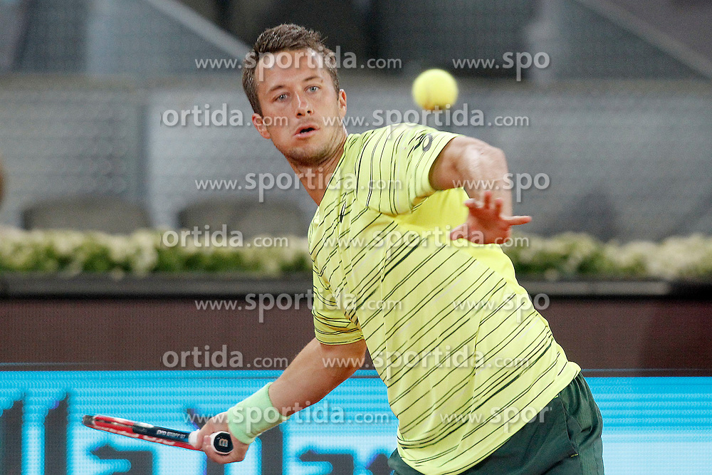 06.05.2015, Caja Magica, Madrid, ESP, ATP Tour, Mutua Madrid Open, im Bild Philipp Kohlschreiber, Germany, // during the Madrid Open of ATP World Tour at the Caja Magica in Madrid, Spain on 2015/05/06. EXPA Pictures &copy; 2015, PhotoCredit: EXPA/ Alterphotos/ Acero<br /> <br /> *****ATTENTION - OUT of ESP, SUI*****
