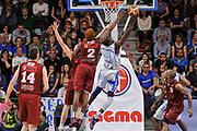 DESCRIZIONE : Campionato 2014/15 Dinamo Banco di Sardegna Sassari - Umana Reyer Venezia<br /> GIOCATORE : Shane Lawal<br /> CATEGORIA : Tiro Penetrazione Sottomano Controcampo<br /> SQUADRA : Dinamo Banco di Sardegna Sassari<br /> EVENTO : LegaBasket Serie A Beko 2014/2015<br /> GARA : Dinamo Banco di Sardegna Sassari - Umana Reyer Venezia<br /> DATA : 03/05/2015<br /> SPORT : Pallacanestro <br /> AUTORE : Agenzia Ciamillo-Castoria/L.Canu