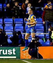 Ian Black of Shrewsbury Town celebrates scoring a goal - Mandatory by-line: Robbie Stephenson/JMP - 17/12/2016 - FOOTBALL - Greenhous Meadow - Shrewsbury, England - Shrewsbury Town v Bristol Rovers - Sky Bet League One