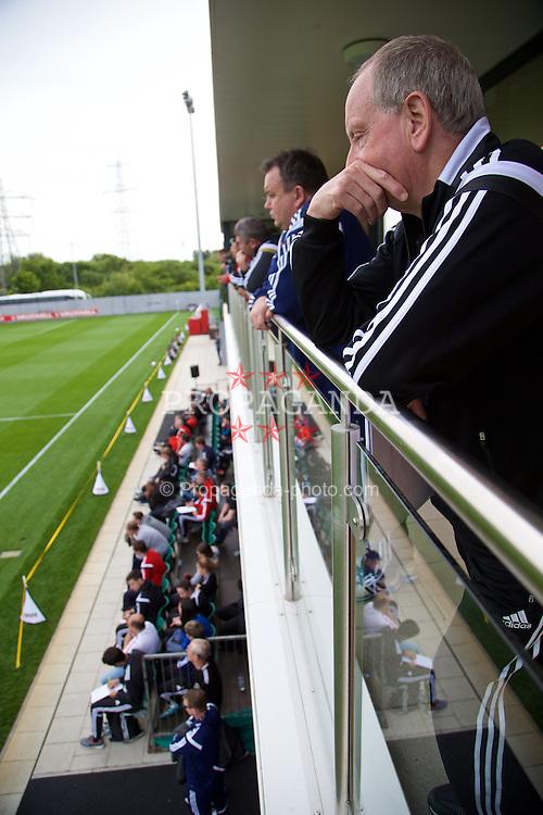 NEWPORT, WALES - Saturday, May 30, 2015: Lennie Lawrence during the Football Association of Wales' National Coaches Conference 2015 at Dragon Park. (Pic by David Rawcliffe/Propaganda)