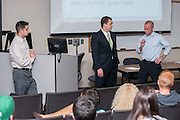 Alumni of Ohio University's College of Business present skills and techniques to help current students make the best first impression at a Professional Development session.