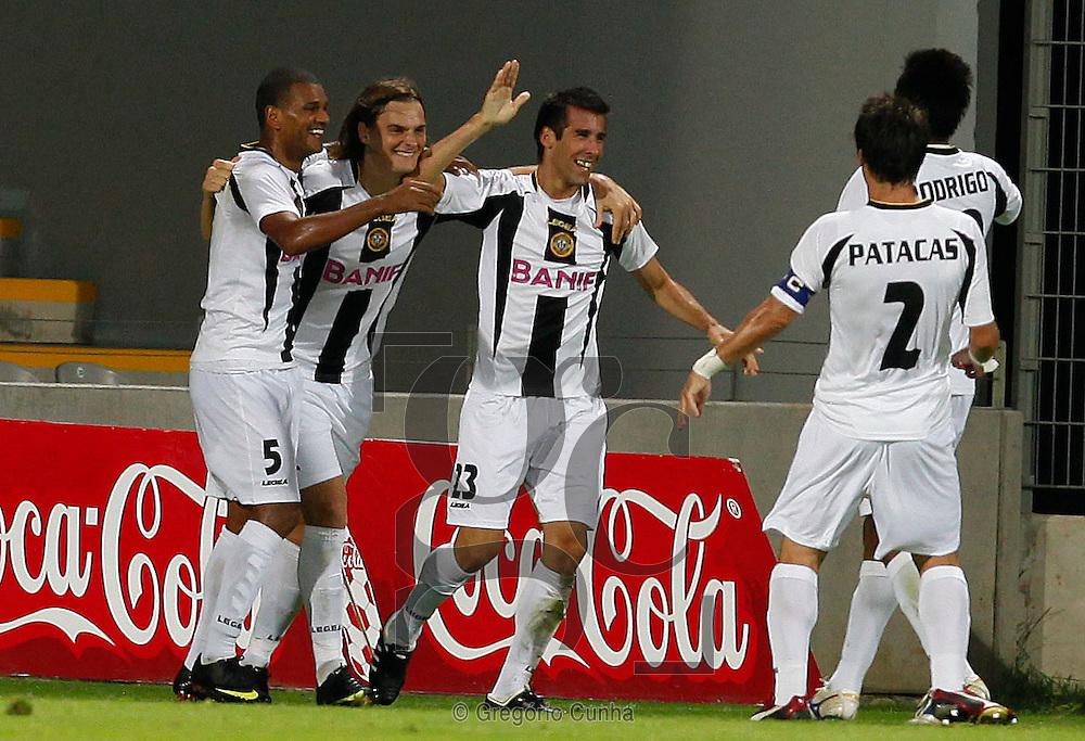 Europa League, Madeira stadium.Nacional vs FC Zenit.Nacional celebration.Foto Gregorio Cunha