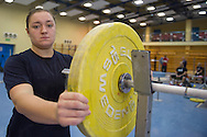 Malgorzata Wiejak from Poland (Zawisza Bydgoszcz; category +75 kg) during training session two weeks before weightlifting IWF World Championships Wroclaw 2013 at the Olympic Sports Centre in Spala on October 08, 2013.<br /> <br /> Poland, Warsaw, September 16, 2013<br /> <br /> Picture also available in RAW (NEF) or TIFF format on special request.<br /> <br /> For editorial use only. Any commercial or promotional use requires permission.<br /> <br /> Mandatory credit:<br /> Photo by © Adam Nurkiewicz / Mediasport