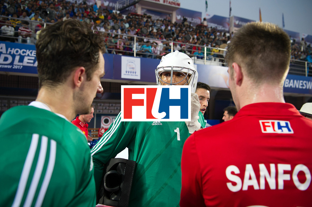 Odisha Men's Hockey World League Final Bhubaneswar 2017<br /> Match id:01<br /> Germany v England<br /> Foto: keeper George Pinner (Eng) keeper Harry Gibson (Eng) (l) <br /> WORLDSPORTPICS COPYRIGHT FRANK UIJLENBROEK