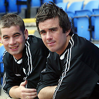 St Johnstone FC new signing Stephen McConalogue (right) with Peter MacDonald who has signed a new deal today<br />