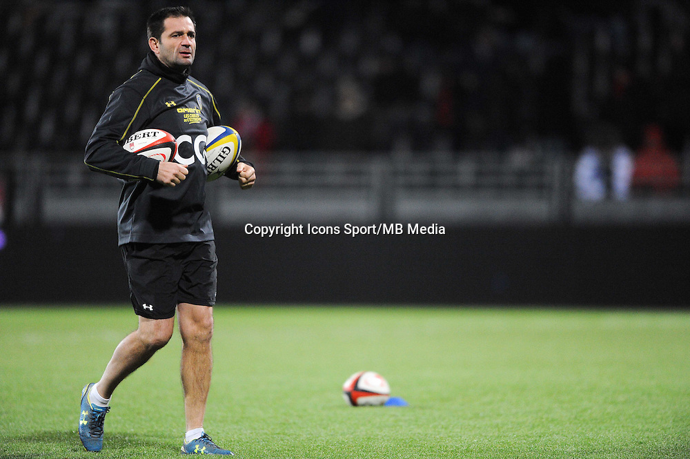 Franck AZEMA - 28.12.2014 - Lyon Olympique / Clermont - 14eme journee de Top 14 <br />Photo : Jean Paul Thomas / Icon Sport