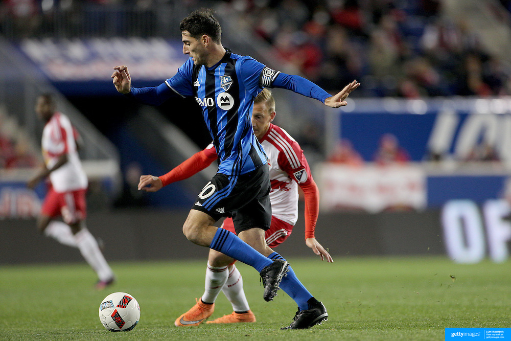 HARRISON, NEW JERSEY- November 06:  Ignacio Piatti #10 of Montreal Impact in action during the New York Red Bulls Vs Montreal Impact MLS playoff match at Red Bull Arena, Harrison, New Jersey on November 06, 2016 in Harrison, New Jersey. (Photo by Tim Clayton/Corbis via Getty Images)