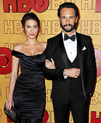 69th Annual Primetime Emmy Awards at Microsoft Theater on September 17, 2017 in Los Angeles, California. 17 Sep 2017 Pictured: Mel-Fronckowiak and Rodrigo Santoro. Photo credit: MEGA TheMegaAgency.com +1 888 505 6342