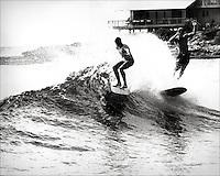 Bill Robbins Makaha backwash 1966 by LeRoy Grannis