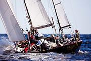 Golden Eye sailing in the Indian Harbor Classic Yacht Regatta.
