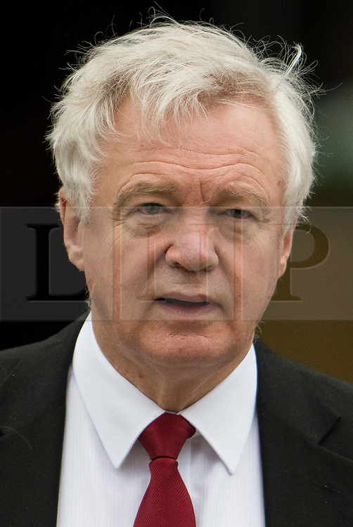 © Licensed to London News Pictures. 04/10/2017. Manchester, UK.  Brexit secretary DAVID DAVIS at Conservative Party Conference. The four day event is expected to focus heavily on Brexit, with the British prime minister hoping to dampen rumours of a leadership challenge. Photo credit: Ben Cawthra/LNP