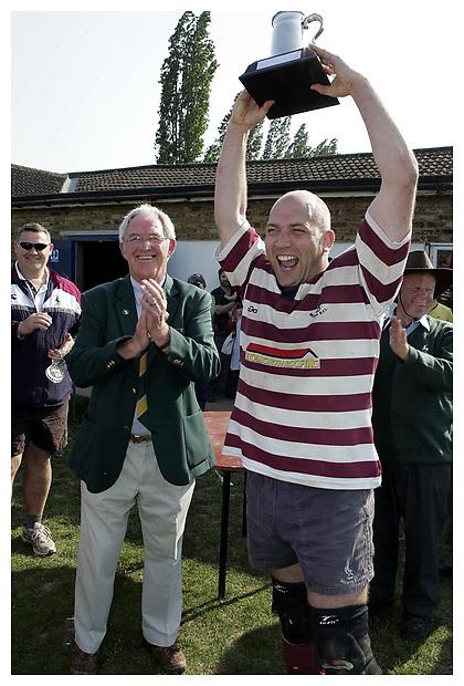 Harpenden RFC v Welwyn RFC. Hertfordshire RFU President's Tankard Final.