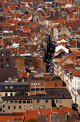 BRUSSELS, BELGIUM - APRIL-04-2007 -  Brussels cityscape and skyline, aerial view of the Schaerbeek neighborhood of Brussels. (Photo © Jock Fistick)