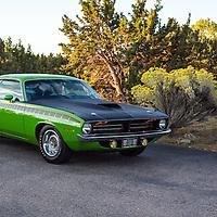 1970 Plymouth AAR 'Cuda, 2012 Santa Fe Concorso High Mountain Tour.