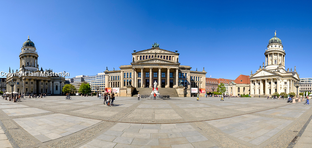 View of Gendarmenmarkt square in Mitte Berlin Germany