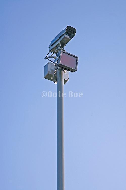 Low angle image of a CCTV camera
