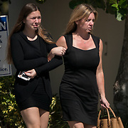 FRIDAY, FEBRUARY 16- 2018---NORTH LAUDERDALE, FLORIDA--<br /> Family and Friends cry after attending the  funeral service for Alyssa Miriam Alladeff, 14, a victim of the school massacre at Marjory Stonemason Douglass High School.<br /> (Photo by Angel Valentin/FREELANCE)