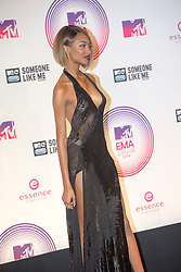 Jourdan Dunn, backstage at the winners room at the MTV EMA's 2014, Glasgow, Scotland