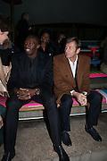 USAIN BOLT; JOCHEN ZEITZ; , Fundraising Gala for the Zeitz foundation and Zoological Society of London hosted by Usain Bolt. . London Zoo. Regent's Park. London. 22 November 2012.