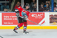 KELOWNA, CANADA - NOVEMBER 11: Tanner Wishnowski #9 of Kelowna Rockets skates against the Vancouver Giants on November 11, 2015 at Prospera Place in Kelowna, British Columbia, Canada.  (Photo by Marissa Baecker/ShoottheBreeze)  *** Local Caption *** Tanner Wishnowski;