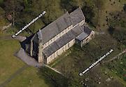 aerial photograph of St Saviors  Bolton Lancashire England UK