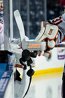 KELOWNA, BC - OCTOBER 12:  Pucks are cleared from the boards at the start of warm up between the Kelowna Rockets and the Kamloops Blazers at Prospera Place on October 12, 2019 in Kelowna, Canada. (Photo by Marissa Baecker/Shoot the Breeze)