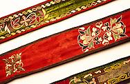 Silk and velvet Yurt roof strap
