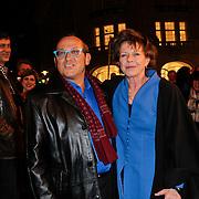 NLD/Amsterdam/20120313 - Inloop Boekenbal 2012, Tom Lanoye en Connie Palmen