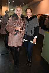 Left to right, ALEXANDRA KROCKOW and KATE MAVROS at a preview of the Hockley Autumn -Winter 2013/2014 Collection at Hockley, 20 Conduit Street, London on 26th November 2013.