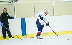 Matjaz Kopitar and Jan Urbas during practice session with Anze Kopitar, NHL star and player of Los Angeles Kings before departure to USA, on September 3, 2014 in Ledna dvorana Bled, Slovenia. Photo by Vid Ponikvar  / Sportida.com