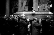 Roma Febbraio 2001.Il funerale di Tiberio Mitri nella chiesa di Santa Maria in Trastevere