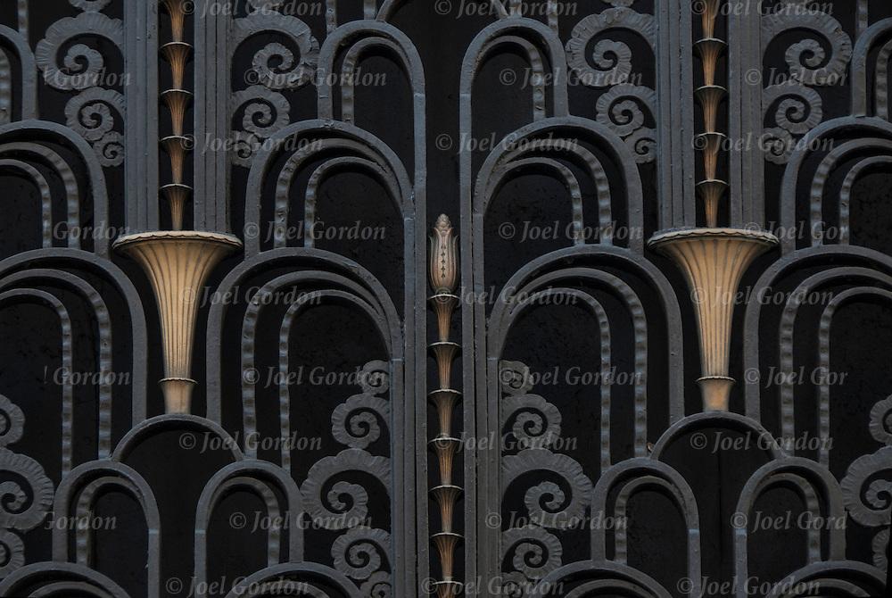 Art deco door of the madison belmont building joel for Neo art deco interior design