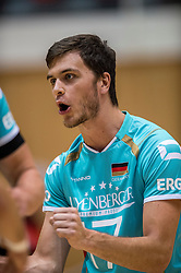 04-06-2016 NED: Nederland - Duitsland, Doetinchem<br /> Nederland speelt de tweede oefenwedstrijd in Doetinchem en verslaat Duitsland opnieuw met 3-1 / David Sossenheimer #17