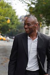 man enjoying time in New York City
