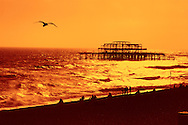 The West Pier, Brighton, Sussex, England.