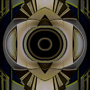 Computer abstract of altered and enhancement of Art Deco design element as digital computer art.<br />