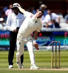James Anderson of England bowls - Mandatory by-line: Robbie Stephenson/JMP - 08/07/2017 - CRICKET - Lords - London, United Kingdom - England v South Africa - Investec Test Series